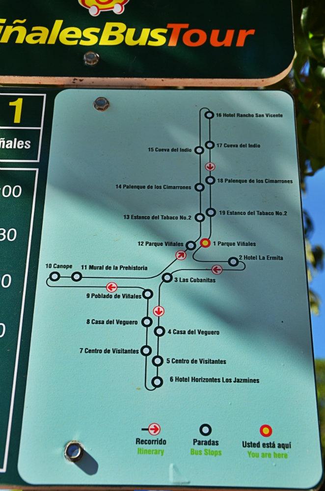 Itinéraire Viñales Bus Tour